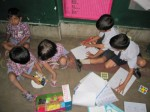 Kids in Akanksha Math class